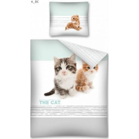 Pościel dziecięca Kotki The Cat 566 DETEXPOL rozmiar 160x200 cm