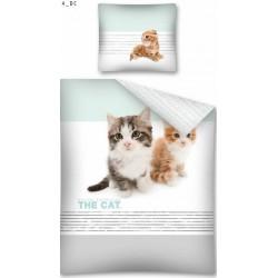 Pościel dziecięca Kotki koty 573 DETEXPOL rozmiar 140x200 cm
