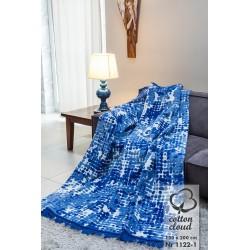 Koc Bawełniano-Akrylowy 1122/1 rozmiar 150x200 cm