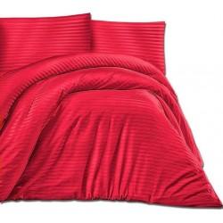Pościel Satynowa jednobarwna Cizgili czerwona DARYMEX rozmiar 140x200 cm