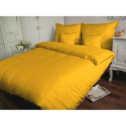 Pościel Satynowa jednobarwna żółta 004 DARYMEX rozmiar 140x200 cm