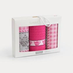 Kuchenny Komplet Podwieczorek różowy ZWOLTEX 3 szt