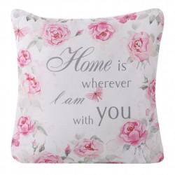 Poszewka dekoracyjna Dona 1 biało różowa 40x40 WYPRZEDAŻ