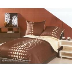 Pościel z satyny bawełnianej GRENO XQ rozmiar 160x200 cm Chocolate Brown
