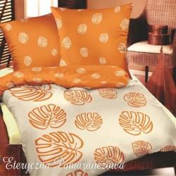 Pościel Satynowa GRENO rozmiar 200x220 cm Eteryczna pomarańcz