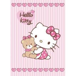 Koc akrylowy Hello Kitty rozmiar 80x110 cm