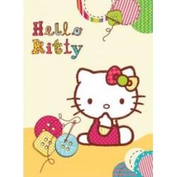 Koc akrylowy Hello Kitty rozmiar 80x110 cm nr 02