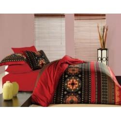 Pościel satynowa Valentini FARO rozmiar 160x200 cm Queen czerwień