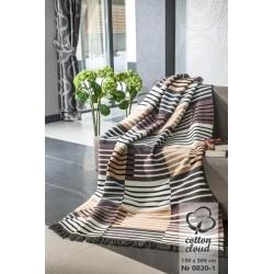 Koc Bawełniano-Akrylowy 0830-1 rozmiar 150x200 cm