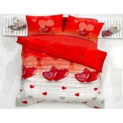 Pościel satynowa Lovely Karmizi Valentini FARO rozmiar 220x200 cm