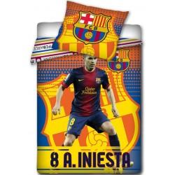 Pościel FC Barcelona Andrés Iniesta 300 CARBOTEX rozmiar 160x200 cm