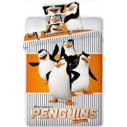 Pościel Pingwiny z Madagaskaru 904 FARO rozmiar 160x200 cm