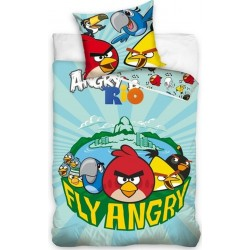 Pościel Angry Birds 701 CARBOTEX rozmiar 160x200 cm