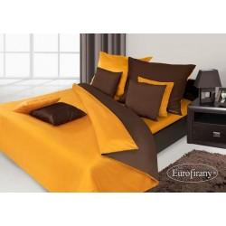 Pościel satynowa Nova Brąz+Pomarańcz EUROFIRANY 220x200 cm