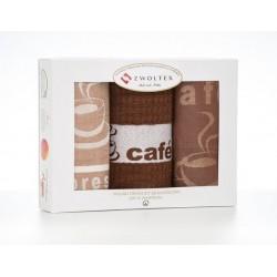 Kuchenny Komplet Czapla CAFE 2 KAWOWA ZWOLTEX