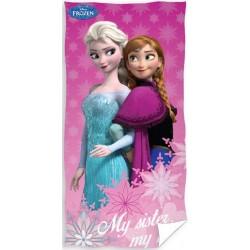 Ręcznik Frozen Kraina Lodu 0591 CARBOTEX rozmiar 70x140 cm