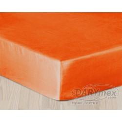 Prześcieradło Satynowe z gumką Pomarańczowe DARYMEX rozmiar 90x200 cm