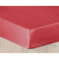 Prześcieradło Satynowe z gumką Czerwone DARYMEX rozmiar 140x200 cm