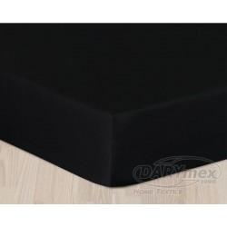 Prześcieradło Satynowe z gumką Czarne DARYMEX rozmiar 200x220 cm