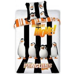 Pościel dziecięca Pingwiny z Madagaskaru 997 FARO rozmiar 160x200 cm