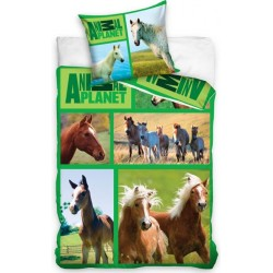 Pościel dziecięca Animal Planet Konie CARBOTEX rozmiar 160x200 cm