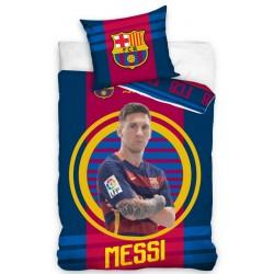 Pościel dziecięca FC Barcelona Messi 710 CARBOTEX rozmiar 160x200 cm