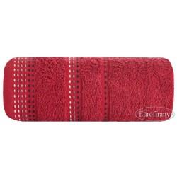 Ręcznik frotte Pola Bordowy EUROFIRANY rozmiar 70x140 cm
