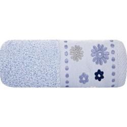 Ręcznik Frotte Kwiat Niebieski EUROFIRANY rozmiar 30x50 cm