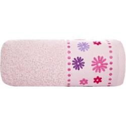 Ręcznik Frotte Kwiat Jasno Różowy EUROFIRANY rozmiar 30x50 cm