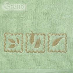 Ręcznik Frotte Gracja Pistacjowy GRENO rozmiar 30x50 cm
