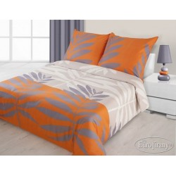 Pościel satynowa Liść Pomarańczowa EUROFIRANY 140x200 cm