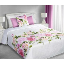 Narzuta Dekoracyjna Elvira 01 biało różowa EUROFIRANY rozmiar 220x240 cm