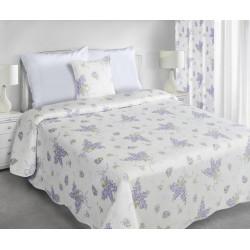 Narzuta Dekoracyjna Arden biała fioletowa EUROFIRANY rozmiar 220x240 cm