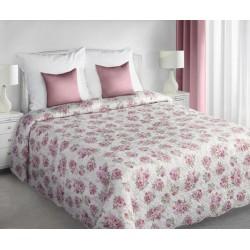 Narzuta Dekoracyjna Dina 01 kremowa różowa EUROFIRANY rozmiar 220x240 cm