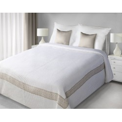 Narzuta Dekoracyjna Lea biała beżowa EUROFIRANY rozmiar 220x240 cm