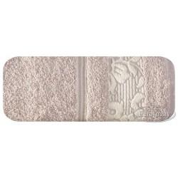 Ręcznik frotte Sylwia Beżowy EUROFIRANY rozmiar 70x140 cm