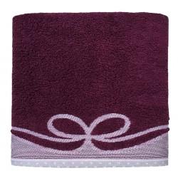 Ręcznik Frotte Arco Śliwkowy GRENO rozmiar 70x140 cm