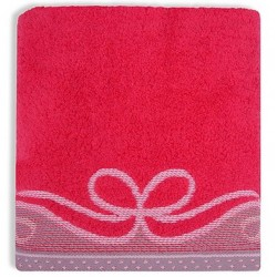 Ręcznik Frotte Arco Malinowy GRENO rozmiar 70x140 cm