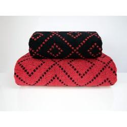 Ręcznik Tommy czerwony czarny FROTEX rozmiar 70x140 cm