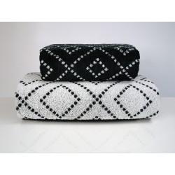 Ręcznik Tommy stalowy biały FROTEX rozmiar 70x140 cm