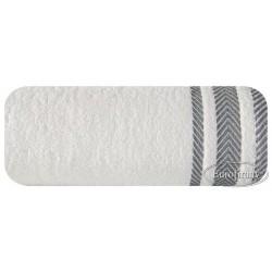 Ręcznik frotte Mona kremowy srebrny EUROFIRANY rozmiar 70x140 cm