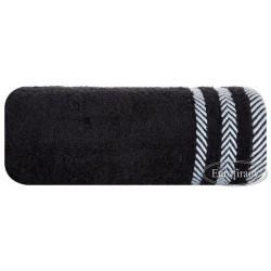 Ręcznik frotte Mona czarny EUROFIRANY rozmiar 70x140 cm