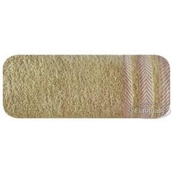 Ręcznik frotte Mona brązowy jasny EUROFIRANY rozmiar 70x140 cm