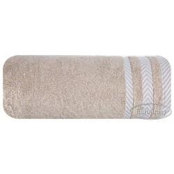Ręcznik frotte Mona beżowy ciemny EUROFIRANY rozmiar 70x140 cm