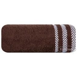 Ręcznik frotte Mona brązowy EUROFIRANY rozmiar 100x150 cm