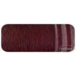 Ręcznik frotte Mona bordowy EUROFIRANY rozmiar 100x150 cm