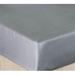 Prześcieradło Satynowe szare jasne DARYMEX rozmiar 200x220 cm