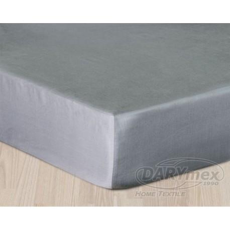 Prześcieradło Satynowe szare jasne DARYMEX rozmiar 160x200 cm