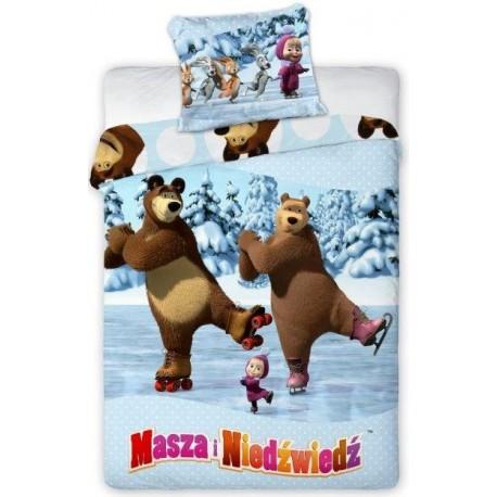 Pościel Masha Masza i Niedźwiedź 6084 FARO rozmiar 160x200 cm
