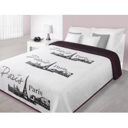 Narzuta dekoracyjna Paris 02 Biały+Bordo EUROFIRANY rozmiar 170x210 cm